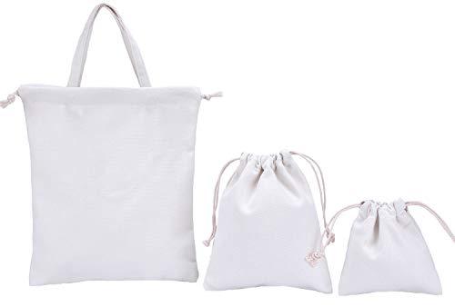 Abaría - Set 3 bolsos tela algodón niño