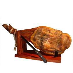 Jambon Serrano (épaule - environ 4,5 - 5 kg) + couteau + port jambon + coffret cadeau