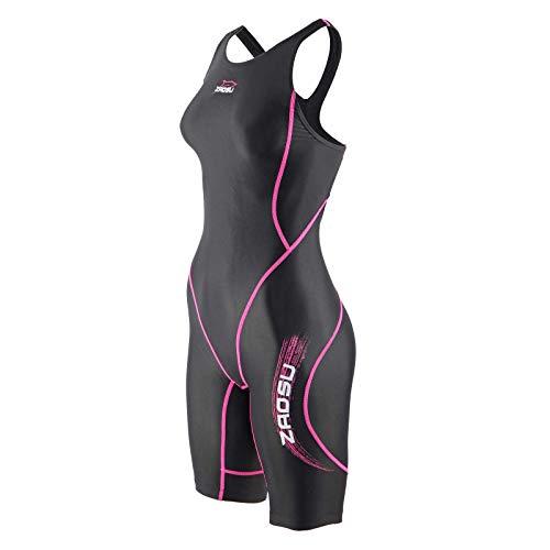 ZAOSU Wettkampf-Schwimmanzug Z-Black VITA - Badeanzug für Mädchen und Damen, Größe:152, Farbe:schwarz/pink