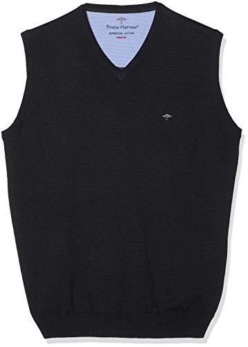 FYNCH-HATTON Herren Pullunder V-Neck Pullover, Grau (Charcoal 998), Large
