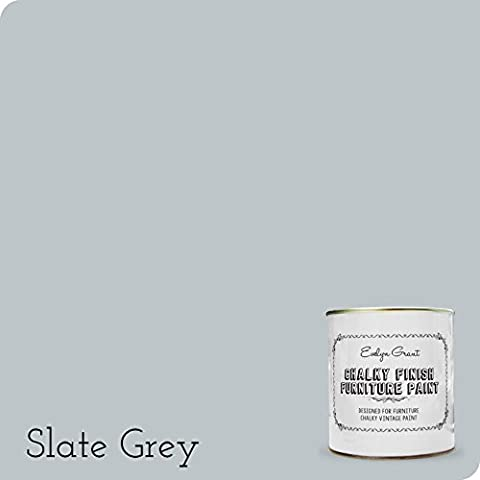 Evelyn Grant Chalky Finish Furniture Paint 1L (Slate Grey)