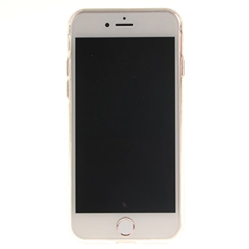 AIXIN Coque iPhone 7, Ubegood iPhone 7 bumper Case [Absorption de Choc] Coque arriere transparente Bumper en TPU Coque pour iPhone 7 Design 08