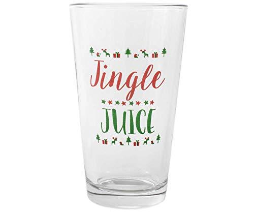 Jingle Juice Urlaub Pint Glas - Strumpf Stuffer Für Weihnachtsfeier Trinken ()