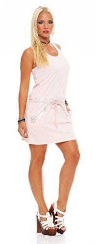 Longshirt Mini-Kleid Sommer Shirt Gr. S M 36 38, 2560 Puderrosa
