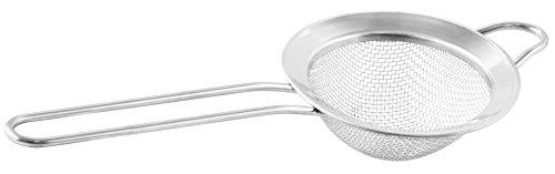 Fackelmann Sieb Ø 7,5 cm, Küchensieb aus Edelstahl, feinmaschiger Seiher mit Flachrand - spülmaschinengeeignet, Menge: 1 Stück (18 10 Edelstahl Tee-sieb)
