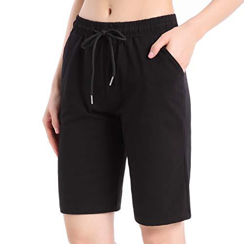 Ferrieswheel Story Damen Bermuda Shorts Fitness Yoga Hose Sweathose Kurz Jogging Hosen mit Taschen