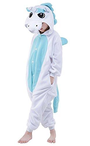 Rojeam Regenbogen Einhorn Pyjamas Tier Kostüm Cosplay Onesie Kigurumi Weihnachten Halloween Geschenk (Einhorn Teen Kostüme)