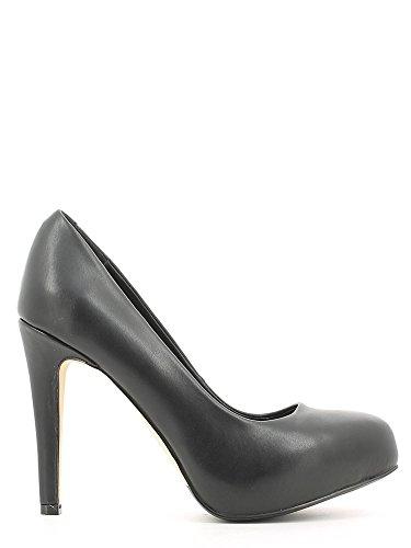 Decoltè CafèNoir per donna in pelle nera tacco 10cm Nero