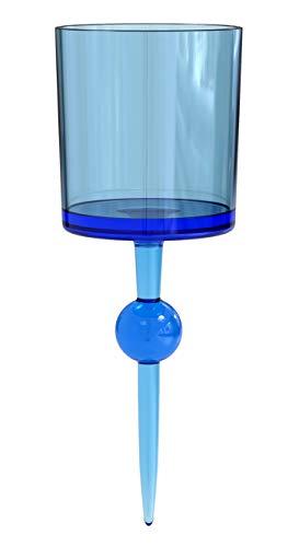 The Beach Glass - schwimmender Mehrweg Plastikbecher & Trinkbecher - hochwertiges Acryl Trinkglas als Weinglas, Cocktailglas & Bierglas - Partybecher für Pool, Strand & Camping - 350 ml (Weingläser Strand)