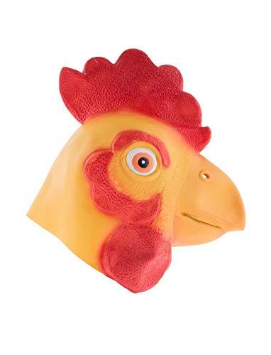 Halloweenia - Kostüm Accessoires Zubehör Tier Latex Maske Huhn Hahn Hühnermaske Henne Rooster Chicken, perfekt für Karneval, Fasching und Fastnacht, ()