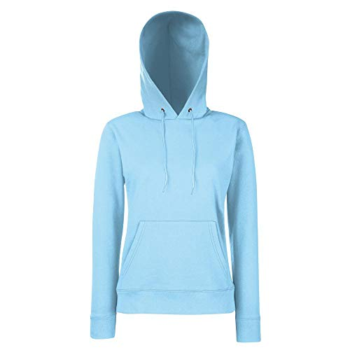 Fruit of the Loom - Classic Lady-Fit Kapuzenpullover 'Hooded Sweat' XS,Sky Blue - Hooded Fashion Sweatshirt