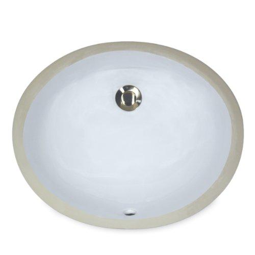 Nantucket Spülen um-17X 14-w-k 43cm von 35,6cm oval Keramik Unterbau Vanity Waschbecken, Weiß