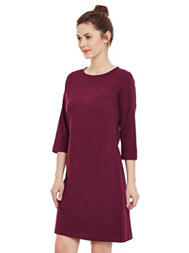 Miss-Chase-Womens-Magenta-Shift-Dress