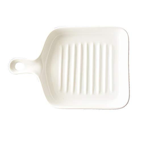 XINGZHE Backblech, Keramik Back Griff Backblech Backblech auf einem Obstsalat Schale gelegt Werden, in 4 Farben erhältlich Backenwerkzeuge (Color : White)