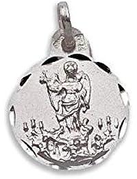 d519b0b3440 Medalla Religiosa - Medalla San Rafael 15 mm. Plata de Ley 925 milésimas.