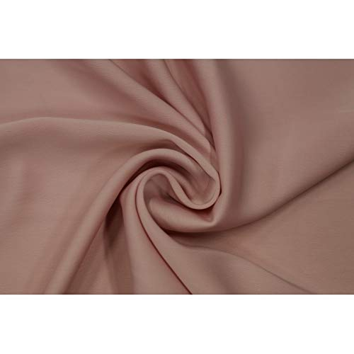 Alltissus tessuto raso tocco seta rosa polvere - al metro