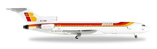 herpa-528467-iberia-boeing-727-200-flugzeug-gelb-weiss-rot