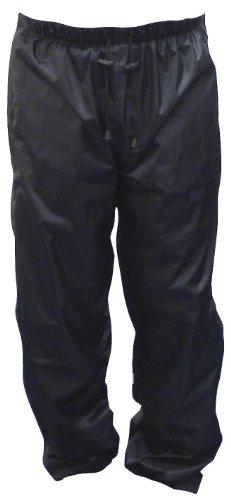 Motorx Motorrad Regenhose mit Reißverschluss, Schwarz, Größe S