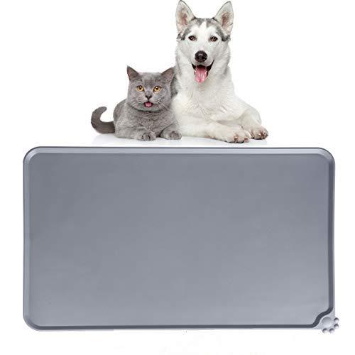 Dono Silikon Futtermatten, Tiernahrung Matte Platzdeckchen Wasserdicht rutschfest für Hund Katze