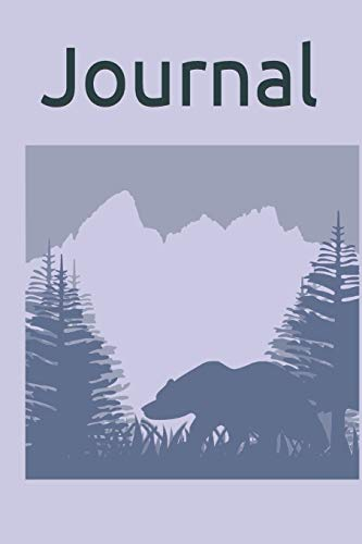 Journal: Bear in the Mountains Silhouette Journal 6