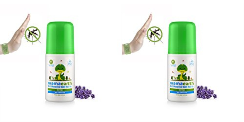 Mamaearth Natural Anti Mosquito Body Roll On, 40ml (Pack of 2)