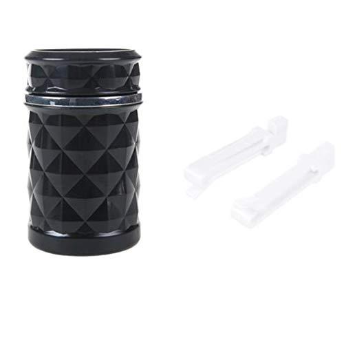 Lecimo Mini Tragbare Auto Auto Aschenbecher Zigarette Tasse Kolben Eimer Rauchen Asche Halter LED, 1# (Zigaretten Asche Eimer)
