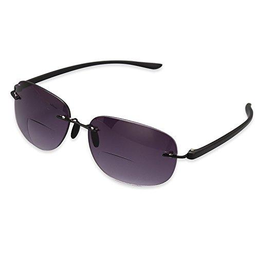 TOPSTARONLINE bifocal Gradienten Sonnenbrille Leser mit Verlaufsgläser für Outdoor bifocal Lesebrille (+1.5, grau)
