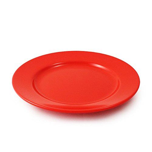Cartaffini-Assiette en Mélamine-Ø 23,5 cm-Couleur : Rouge