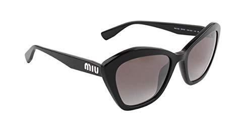 Miu Miu Sonnenbrillen SMU 05U Black/Grey Shaded Damenbrillen