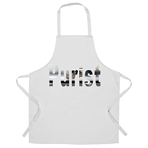 Price comparison product image Old School DJ Chefs Apron Purist With Record Player White One Size