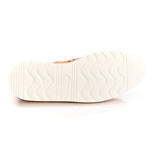 GRENSON - Herren- Schwarze Richelieu-Schuhe mit Rosette und weißer Sohle Archie V für herren Tan
