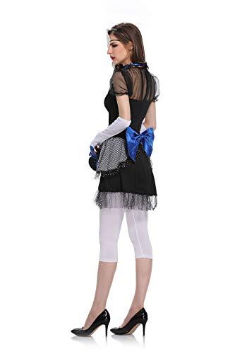 Erwachsene Für Black Cape Kostüm Ghost - Halloween Clown Kostüme, Ghost Bride Bühnenkostüme, Opera Rollenspiel Kostüme,Black,Freesize