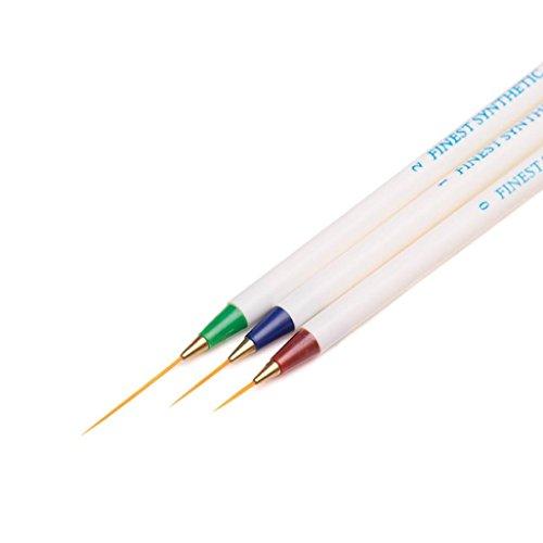 Gel de uñas BBsmile 3 UNIDS Nail Art Design Set Punteado Pintura Dibujo Cepillo Pluma Herramientas