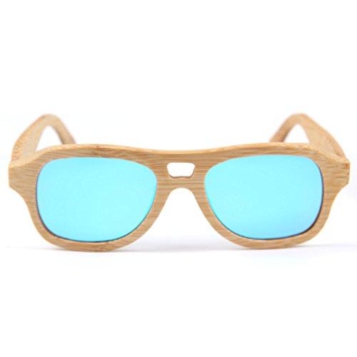 Freiesoldaten Männer Frauen Polarisierte Holzbrille Jahrgang Blendfrei Linsen Brillen Bambus Sonnenbrille mit Bambus Box