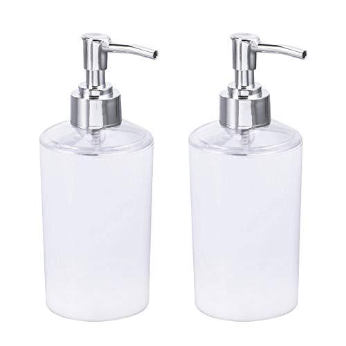 Yardwe 2 Stücke Plastik Leere Seifenspender Nachfüllbar Reise Flaschen Set Reisebehälter für Shampoo Creme Massage Öle Kosmetik Flaschen (Weiß)