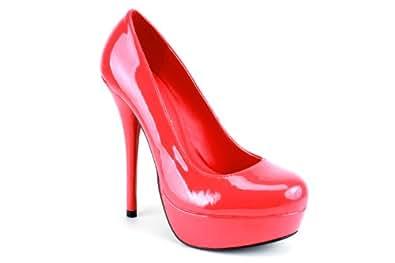 rote high heels mit 14 cm absatz schuhe handtaschen. Black Bedroom Furniture Sets. Home Design Ideas