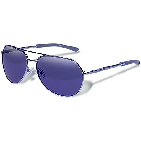 Gafas de sol Victor Gun Smoke gárgolas espejo azul lente polarizada