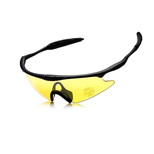 DOLOVE Outdoor Brille Beschlagfrei Sportbrille Nacht Schutzbrille Schießsport Gelb
