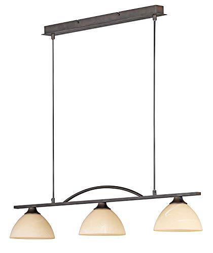 Deckenleuchte Pendelleuchte Rostfarbig antik Glasschirm 3-flammig 68313 Spot Design Lampe Leuchte...