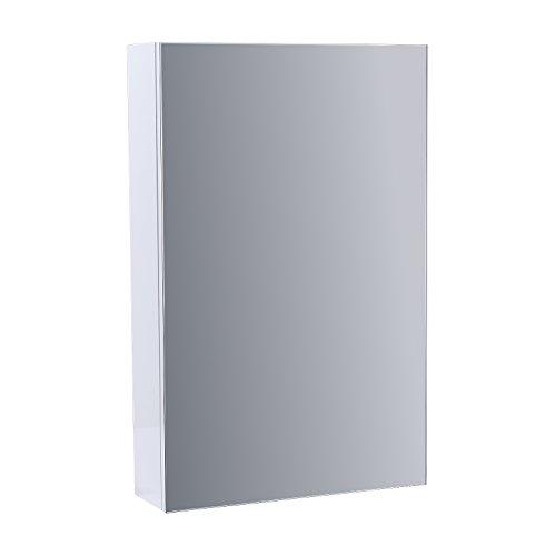 Enki mobile a specchio per bagno fissaggio a parete bianco lucido horizon