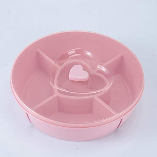 Trockenfrüchte-Platten-Herz-geformte Süßigkeitskasten-Imbiß-Plastikschüssel ()