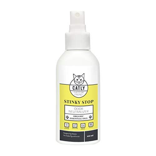 Catly Stinky Stop Natürliches Spray gegen Katzengerüche ätherische Öle gegen unangenehme Gerüche | Bio & vegan | 100ml -