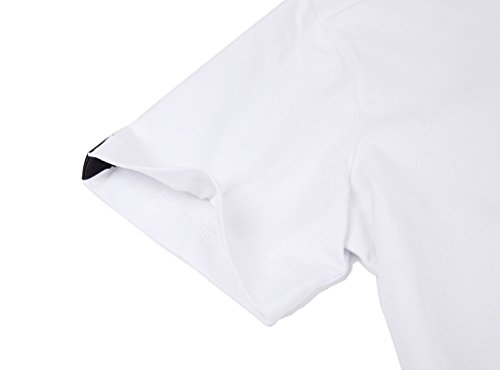 Pizoff Unisex Schmale Passform Baumwolle T Shirts mit 3D Digital Print Muster Y1780-19