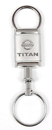 Nissan Titan Satin Chrome Valet Keychain by Nissan