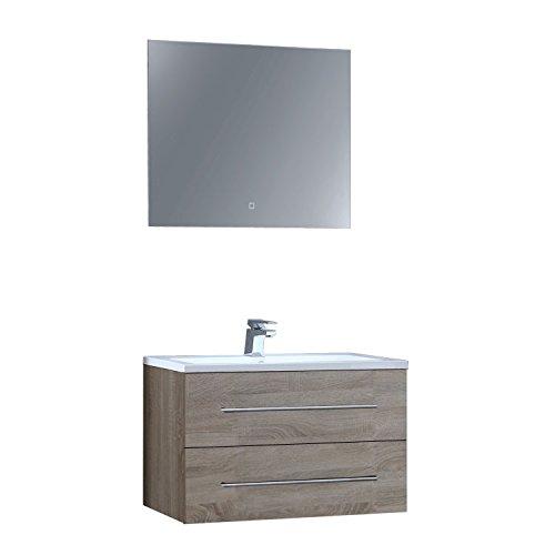 Preisvergleich Produktbild STONEART Badmöbel San Marino SA-0800+ Eiche hell/80x45