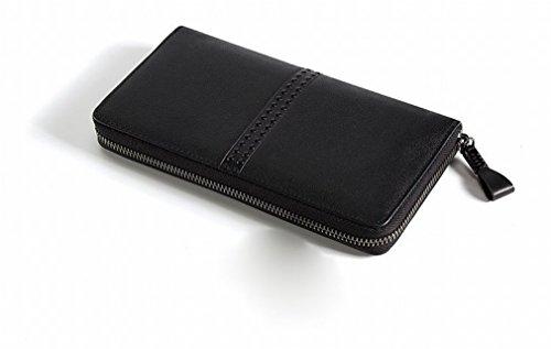 BN Sacchetto Lungo Della Borsa Della Borsa Della Tasca Del Portafoglio Della Borsa Multi-Card Della Borsa Di Affari,Blu Nero