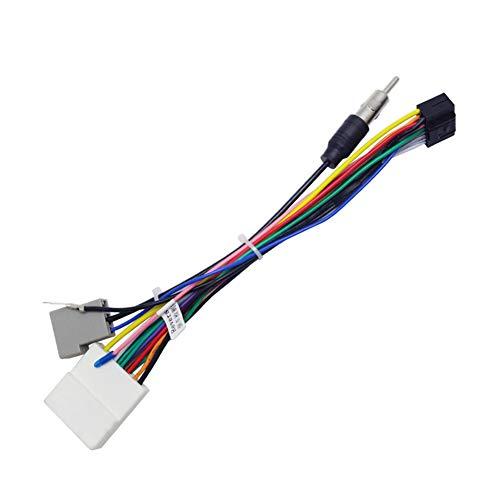 elegantstunning 16Pin Car Head Unit Wire Harness Adapter Car Stereo Radio Power Connector for Nissan OEM Car Radio Harness