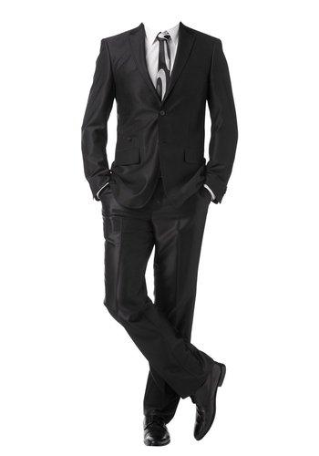 Bruno Banani Herren Anzug zweiteillig Sakko und Hose klassisch elegant schwarz (44)