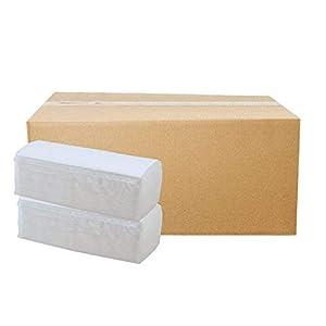 4.000 Blatt Papierhandtücher Premium Falthandtuch weiß Hochweiß 2-lagig 25 x 23 cm ZZ-Falz