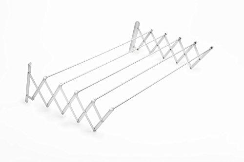 Tender Fil Tendedero Extensible, Metal, Blanco, 100 cm